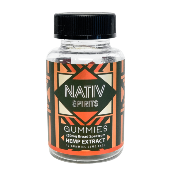 Nativ Spirits 250mg Broad Spectrum CBD Gummies For Sale Wholesale