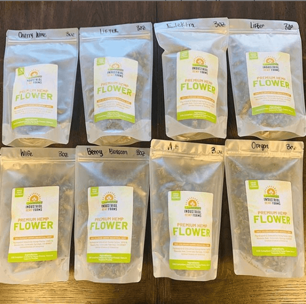 CBD Flower Strain Sampler: 4 x 1 ounces (1/4 lb)