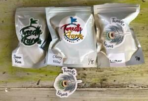 tweedle farms hemp flower in bags
