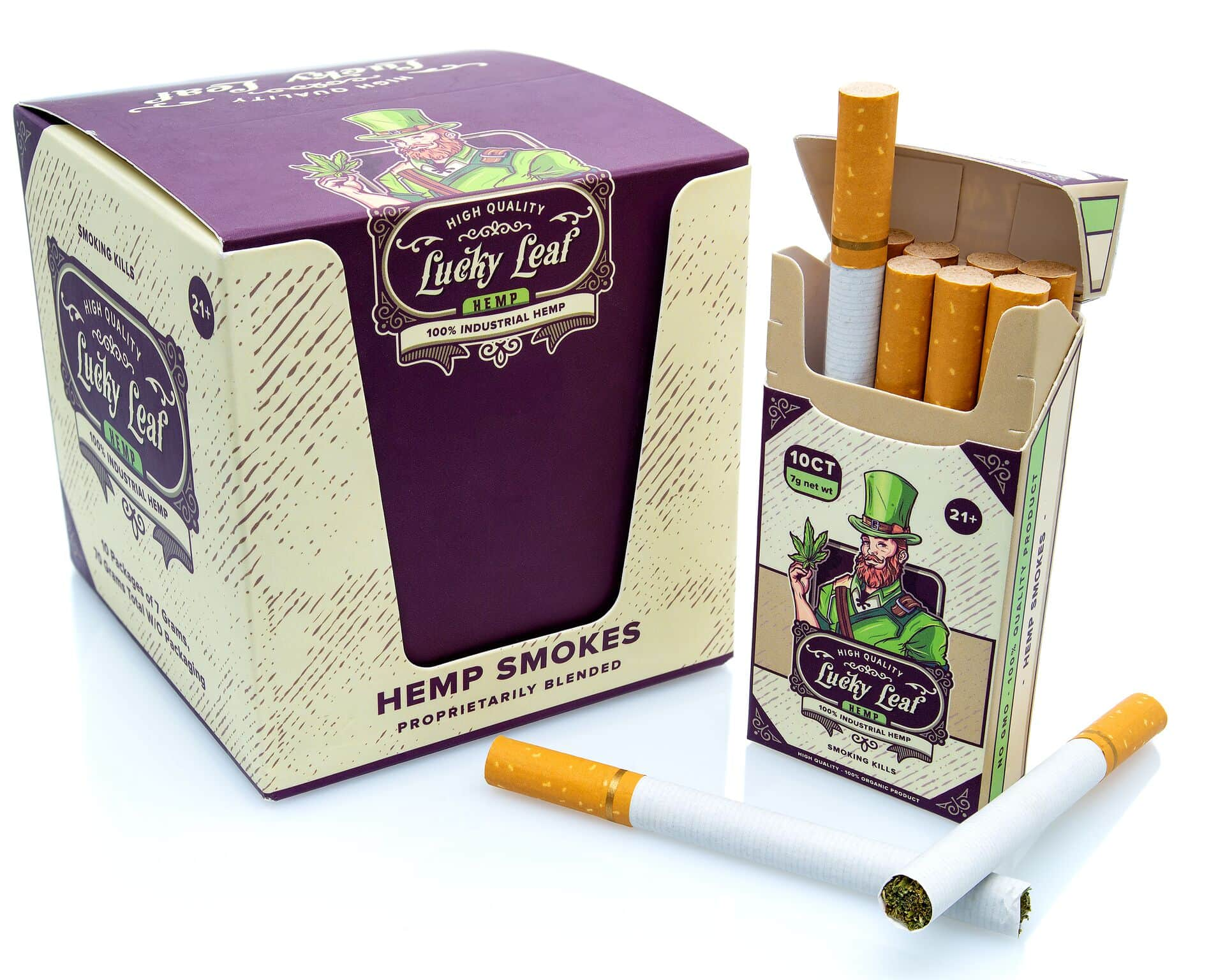 lucky leaf hemp cigarettes for sale