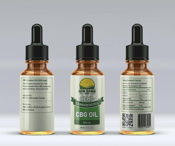 New Dawn Hemp CBG Oil for Sale Online