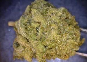Blue Cheese Cannabis flower close up