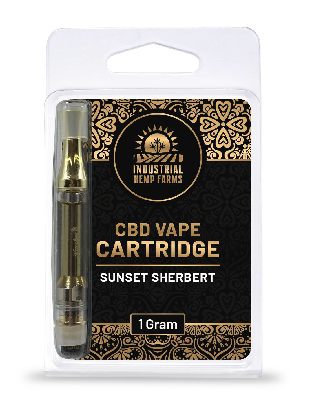 sunset sherbert cbd vape pen cartridge