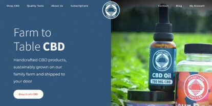 Sunset Lake CBD website